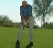 Making a solid iron shot from a sloping downhill lie