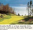 Arcadia Bluffs golf course - 11th hole