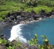 Waianapanapa State Park - black sand beach in Maui