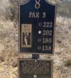 CrossCreek Golf Club - tee marker