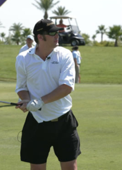 """Nicknamed """"The Brat,"""" poker's Phil Hellmuth attracts as much attention on the golf course as at the table."""