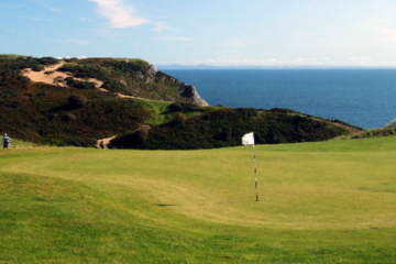 Historic Pennard Golf Club in southwest Wales offers coastal views as stunning as you'll find anywhere in the world.