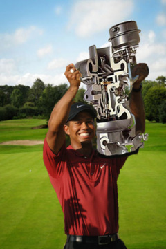 Even as a mechanic, Tiger Woods would surely dominate.