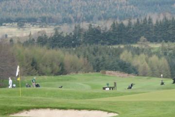 Powerscourt Golf Club in Enniskerry is set amid quintessentially Irish rolling hills.