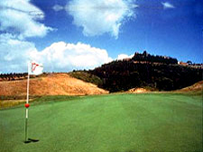 Castelfalfi Golf Course was built near a medieval Tuscan hamlet on the site of a 14-th century battlefield.