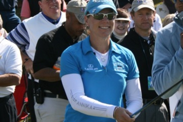 Annika Sorenstam has plenty to smile about following her victory at the Stanford Invitational.