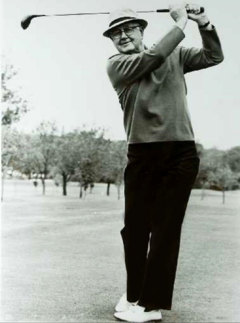 The legendary Byron Nelson shared his tips for extra power off the tee with Les Miller.