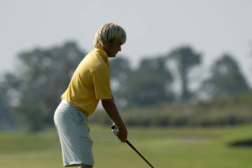 There is no difference between your swing on the practice range or in a tournament-it's your state of mind.