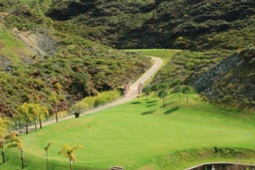 The new Gran Flamingo course is set through rugged, mountain terrain just off the Mediterranean Sea.