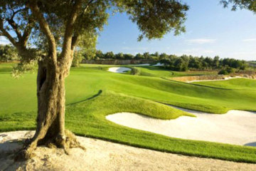 The bunkers on the Faldo Course at Amendoeira Golf Resort can be formidable.
