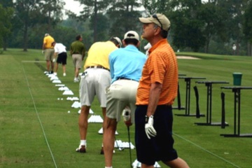 On the range, focus on where you want the ball to start, while feeling like you are hitting it down the tunnel.