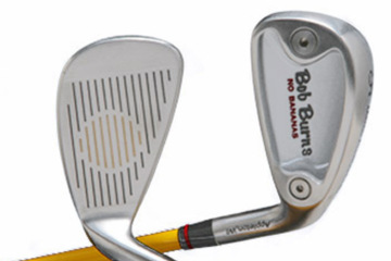 The No Bananas line has extended into irons, which allow for customization of lie, loft, weighting and spin.