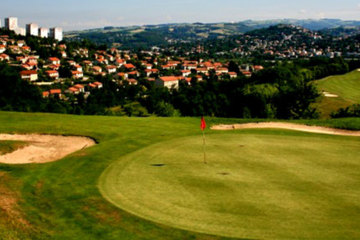 The Golf Club at St. Etienne is a hilly municipal golf course about an hour from Lyon that was built on a former mine and landfill site.