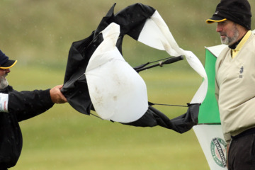 Ireland's golf links are often windy enough to render umbrellas useless, so leave them at home.