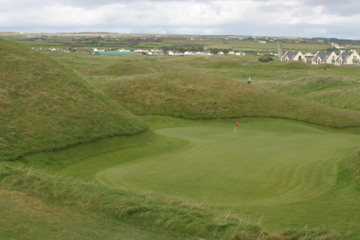 The Dell Hole on the Old Course at Lahinch is tucked deep in a bowl surrounded by dunes.