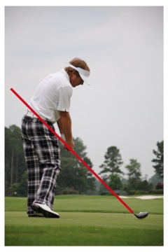 If you are under the plane line approaching impact, you will be hitting pushes and hooks; too far above and you will be hitting pulls and slices.