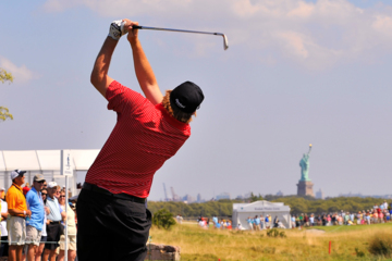 Watching golf on TV, notice how many times PGA Tour players play the safe shot to avoid major trouble off the tee.