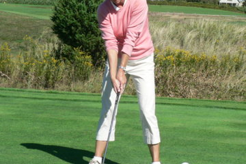 Keep your feet under your armpits or, for your driver, as wide as just outside your shoulders.
