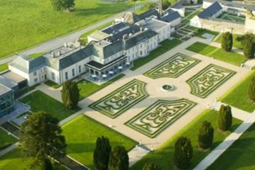 The Castlemartyr Resort includes an 18th-century manor house connected to a newer portion of the hotel that opened in 2007.