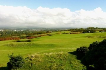 Though they are wide, gorse guards the fairways at Southerndown Golf Club.