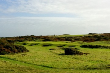 Bunkers steal the show at Royal Porthcawl Golf Club in Wales.