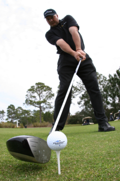 Where are your eyes fixed on the golf ball as you line to hit? Try 3'oclock – the spot at which your club strikes the ball.