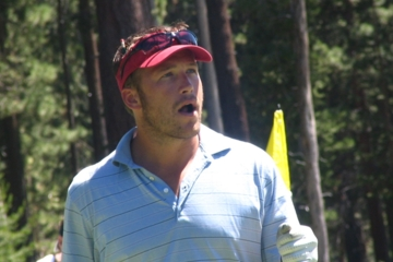 Bode Miller brings his stubble and his attitude to a golf course.