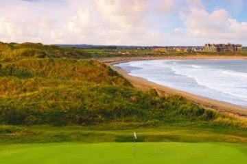 The golf course at Doonbeg is the highlight of one of the loveliest resorts in Ireland.