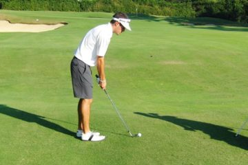 An effective pre-shot routine is essential to improving your golf game.