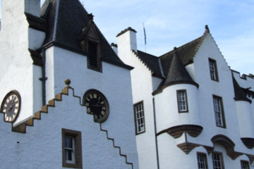 Blair Castle is one of many on the way up to Dornoch in the Highlands region.