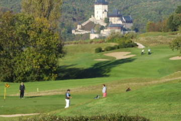 Golf Resort Karlstejn's design maximizes views of the namesake 14th-century castle.