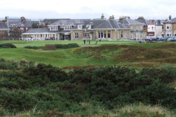 Gorse is a familiar sight at Prestwick Golf Club, home of the first British Open.