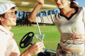 Forget the fairways - take your golf date straight to clubhouse for happy hour.