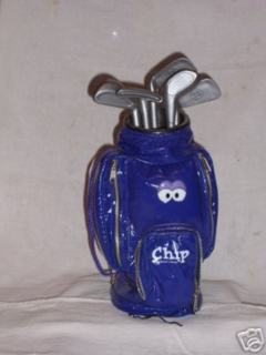 """Chip,"" a 12-inch golf bag that dances and sings, will give golfers literally seconds of enjoyment."