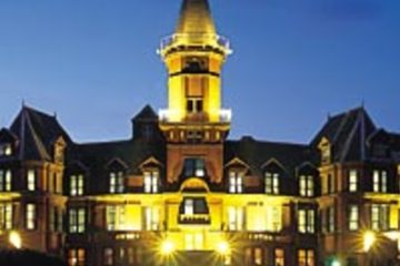 The four-star Slieve Donard Hotel sits next-door to Royal County Down, Northern Ireland's most famous links.