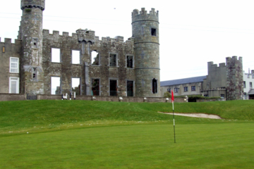 The new golf course plays around the 19th-century ruin at Ballyheigue Castle Golf Club.