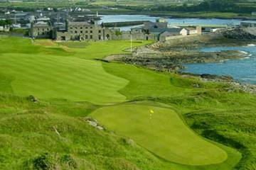The first hole at Ardglass plays uphill around the sea and is one of Northern Ireland's finest.