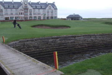 Visit Carnoustie during the Open Championship.