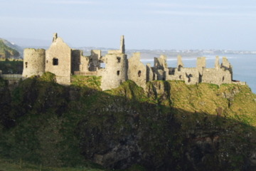 The stunning Dunluce Castle ruins are just minutes from the Royal Portrush Golf Club.