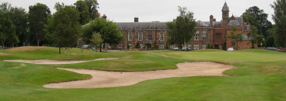 18th and the clubhouse at Vale Royal Abbey