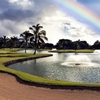 Rainbow over the lake at Waialae Country Club