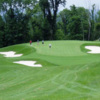 A view of a hole protected by bunkers at Arrowhead Country Club