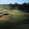 A view of green protected by bunkers at Kiskiack Golf Club