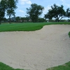 A view of the bunker protecting the 18th green at Plantation Resort Golf Club