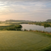A view of the signature hole #10 at Bayside Resort Golf Club