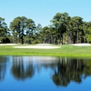 A view of the 18th hole at Eagle Nest Golf Club
