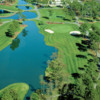 Aerial view of the 18th hole from the West course at Myrtle Beach National Golf Club