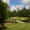 Aerial view of a green protected by bunkers at Golden Ocala Golf & Equestrian Club