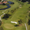 Aerial view of the 10th hole at Deep Creek Golf Club