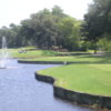 A view of the 1st hole at Bluewater Bay Resort